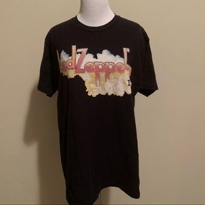 Led Zeppelin Graphic Band Concert Tultex Tee Large
